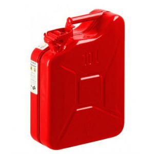 Jerrycan Rood Staal 10 Liter