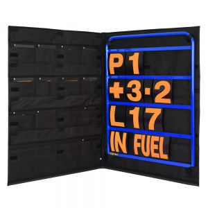 STANDARD BLUE ALUMINIUM PIT BOARD KIT- ORANGE NUMBERS & BAG