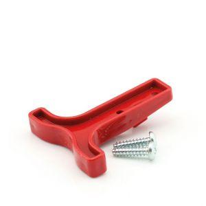 Accustekker handgreep plastic rood voor 50 AMP stekkers