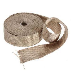 Uitlaat Isolatieband / Heat Wrap 5 cm X 30 m Beige