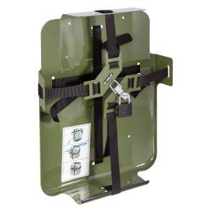 Jerrycan houder met kruissluiting (voor 20 ltr jerrycan)