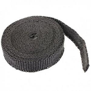 Uitlaat Isolatieband / Heat Wrap 2,5cm X 7,5m Zwart