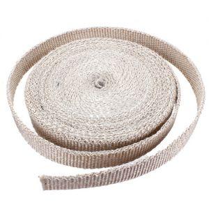 Uitlaat Isolatieband / Heat Wrap 2,5cm X 7,5m Wit