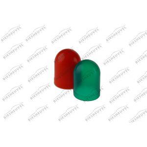 VDO Gekleurde Lamphuls Voor T10 Lamp - Set 2x Rood - 2x Groen