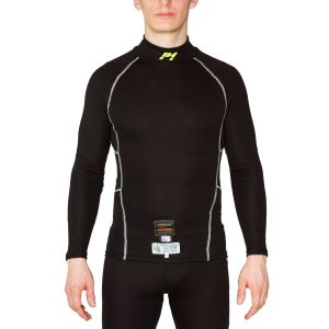 """P1 Racewear """"Slim Fit"""" Modacryl Top Zwart"""