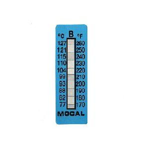 Mocal temperatuurstrip 77-127 graden Celcius